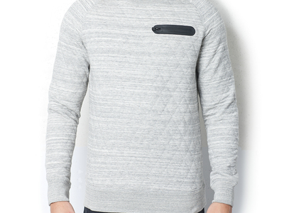 Sovereign Code Mens Fall Basics + Outerwear Mcmurray Quilted Sweatshirt // Heather Grey (s)