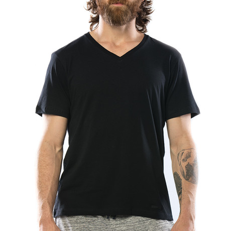 OG Classic V-Neck T-Shirt // Pitch Black
