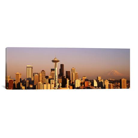 "Skyline, Seattle, Washington State, USA // Panoramic Images (60""W x 20""H x 0.75""D)"