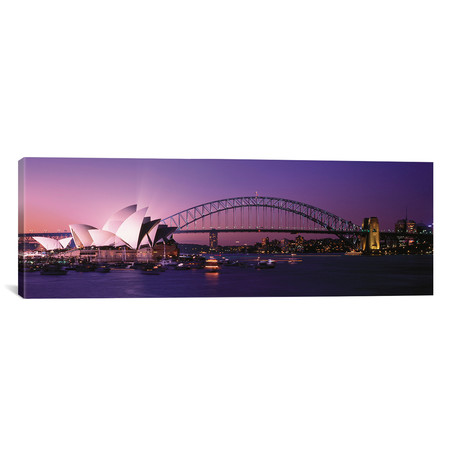 "Opera House Harbour Bridge Sydney Australia // Panoramic Images (60""W x 20""H x 0.75""D)"