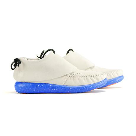 Hemera Skirt Sneaker // Taupe + Royal Blue (US: 6)
