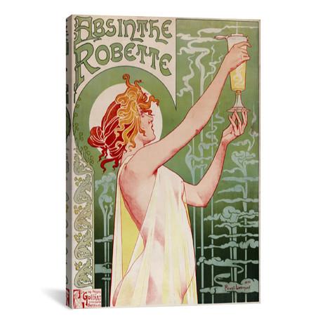 "Absinthe Robette Vintage Poster // Henri Privat-Livemont (26""W x 40""H x 1.5""D)"