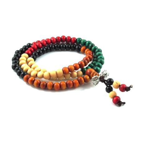 Meditation Bracelet // Colored Wood
