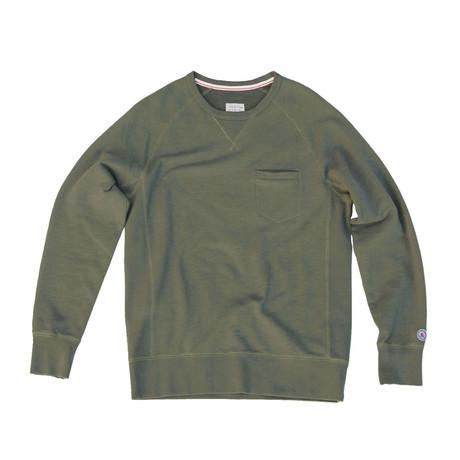 Everyday Crewneck Sweater // Military Green