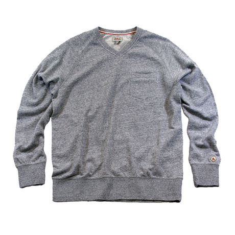 Country Club V-Neck Sweater // Heather Grey