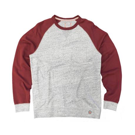 Saturday Crewneck Sweater // Heather Grey + Burgundy