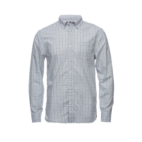 Truman Button Collar Shirt // Gray Grid Check (XS)