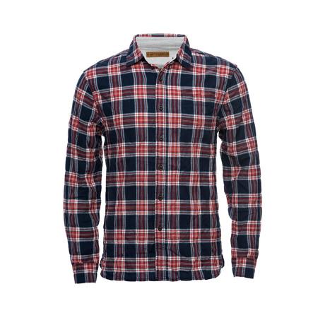 Truman Square Pocket Shirt // Red + Navy Plaid