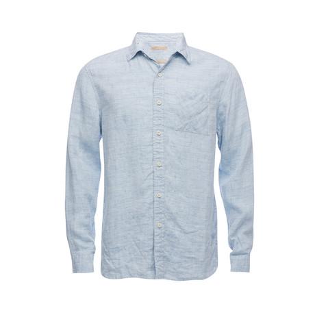 Truman Square Pocket Shirt // Light Blue Linen (XS)