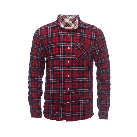 Truman Square Pocket Shirt // Red Plaid (XS)