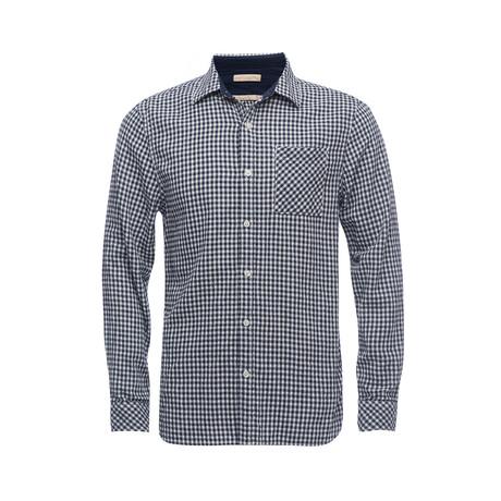 Truman Square Pocket Shirt // Dark Navy Gingham