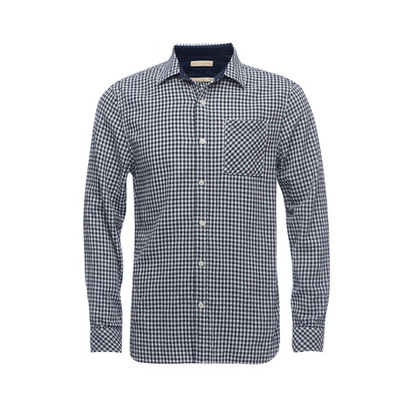 Truman Square Pocket Shirt // Dark Navy Gingham (XS)