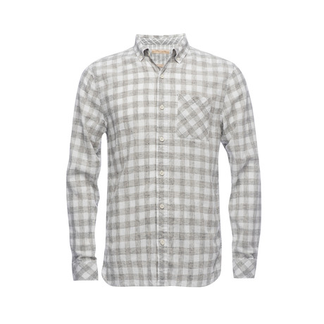 Truman Button Collar Shirt // Tan Check (XS)