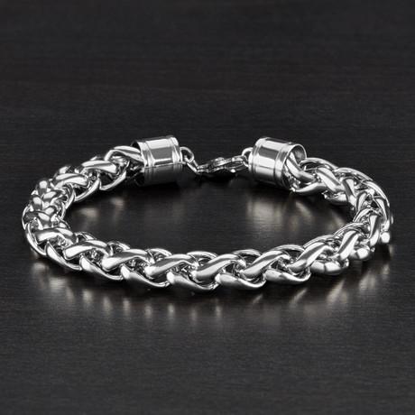 Wheat Chain Bracelet // Silver // 8.5