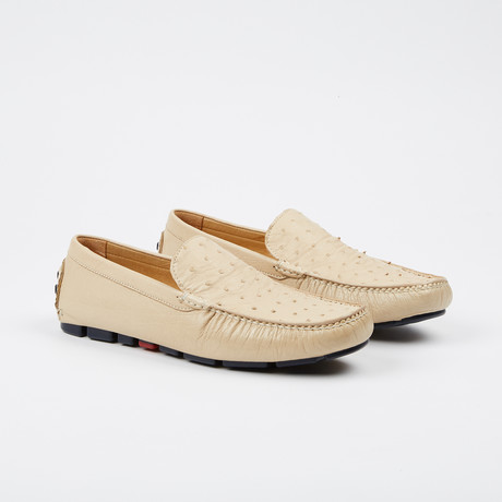 Drake Ostrich Loafer // Off-White (US: 7)