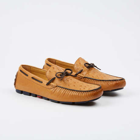 Drake Ostrich Tie Moccasin // Tan (US: 7)
