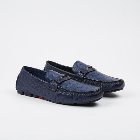 Drake Ostrich Loafer // Blue (US: 7)