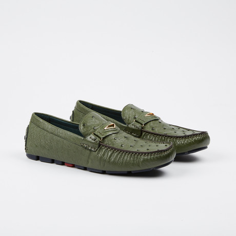 Drake Ostrich Loafer // Green (US: 7)