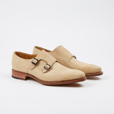 Neo Suede Double Monkstrap // Beige (US: 7)