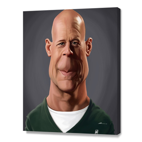 Bruce Willis // Stretched Canvas