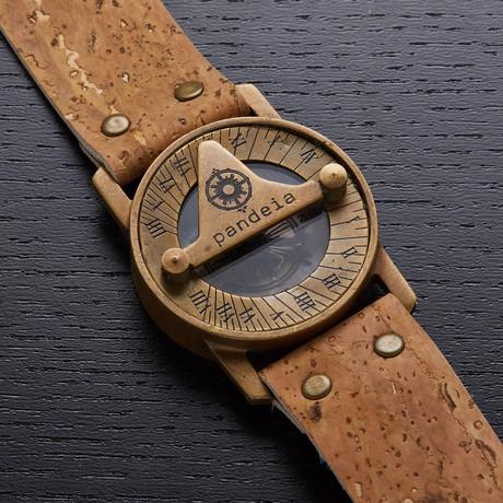 Pandeia Cork Sundial Watch // PTM-C