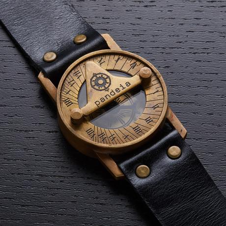 Pandeia Obsidian Sundial Wrist Watch// PTM-O