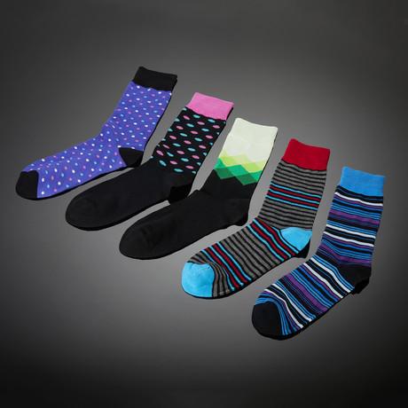 Chelsea Bamboo Fiber Hand-Linked Socks // 5-Pack