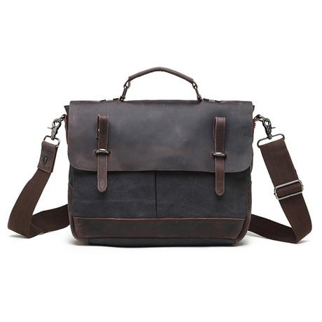Classic Double Pocket Messenger Bag