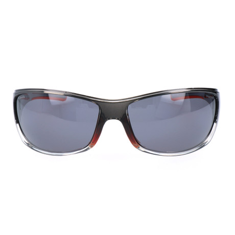 Hurricane Peak Thick Rim Sunglasses // Clear Graphite + Red