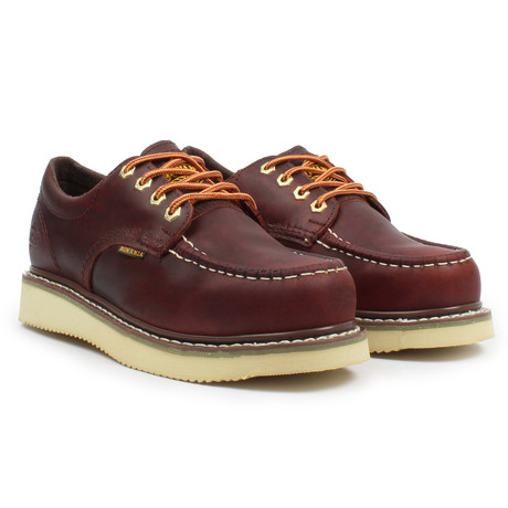 4'' Moc Toe Oxford // Burgundy (US: 6)
