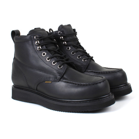 6'' Classic Moc Wedge Boot // Black (US: 6)