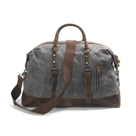 Classic Leather Canvas Duffel Bag