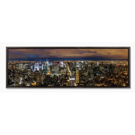 "New York City Skyline at Night (20""H x 60""W x 1""D)"