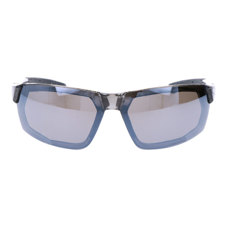 Polarized Sport Hidden Rim Wraparound // Crystal Grey