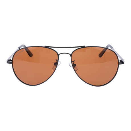Polarized Triangular Aviators // Gunmetal + Brown