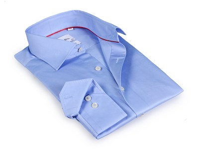 Photo of Finollo Contemporary Dress Shirts Stewart Button-Up Shirt // Light Blue (US: 15R) by Touch Of Modern