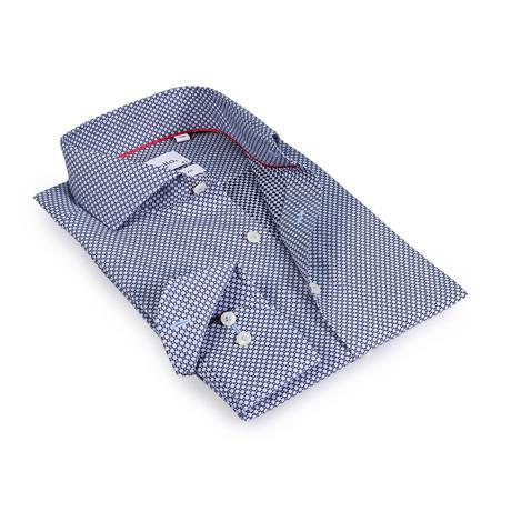 Alec Button-Up Shirt // Black + Light Blue (US: 15R)