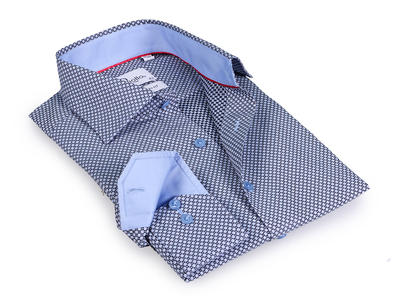 Photo of Finollo Contemporary Dress Shirts Zachary Button-Up Shirt // Black + Light Blue (US: 15.5R) by Touch Of Modern