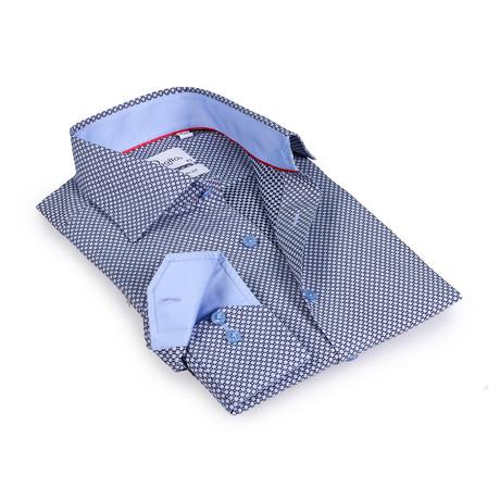 Zachary Button-Up Shirt // Black + Light Blue (US: 15R)