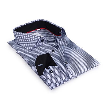Beau Button-Up Shirt // Black + Light Blue (US: 15R)