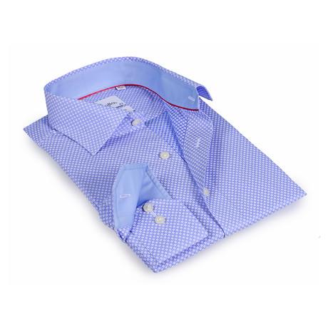Derek Button-Up Shirt // Blue + Light Blue (US: 15R)