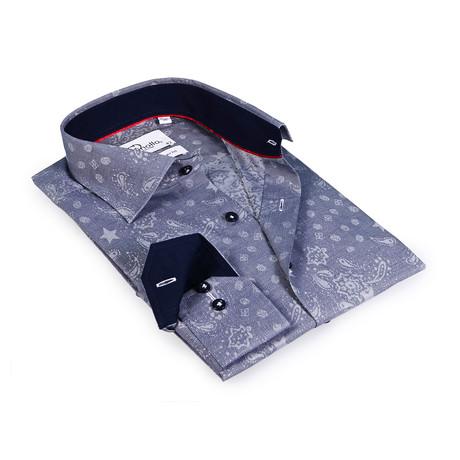 Alan Button-Up Shirt // Slate + Black (US: 15R)