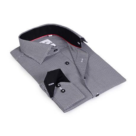 Jesse Button-Up Shirt // White + Black (US: 15R)