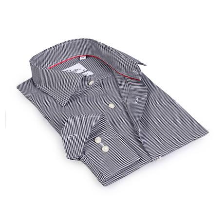 Travis Button-Up Shirt // White + Black (US: 15R)