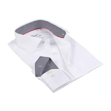 Stephen Button-Up Shirt // White + Black (US: 15R)
