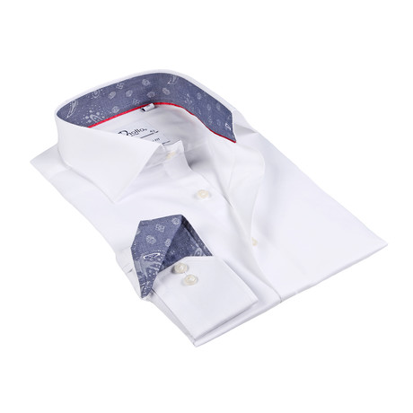 Colin Button-Up Shirt // White + Slate (US: 15R)