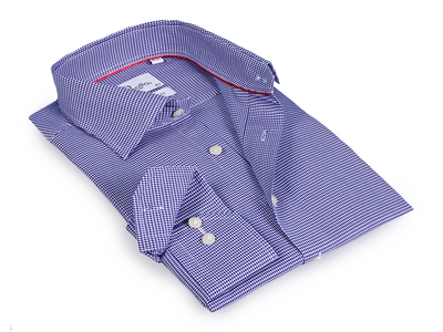 Photo of Finollo Contemporary Dress Shirts Chase Button-Up Shirt // White + Blue (US: 15R) by Touch Of Modern