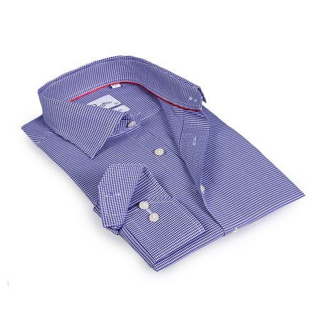 Chase Button-Up Shirt // White + Blue (US: 15R)