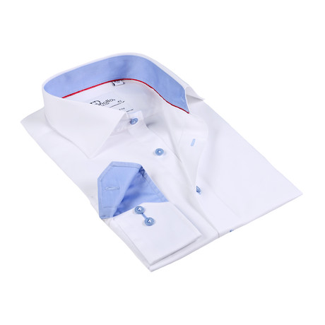 Chad Button-Up Shirt // White + Blue