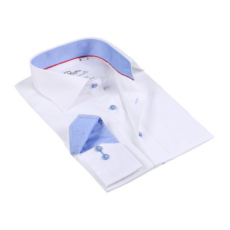 Chad Button-Up Shirt // White + Blue (US: 15R)